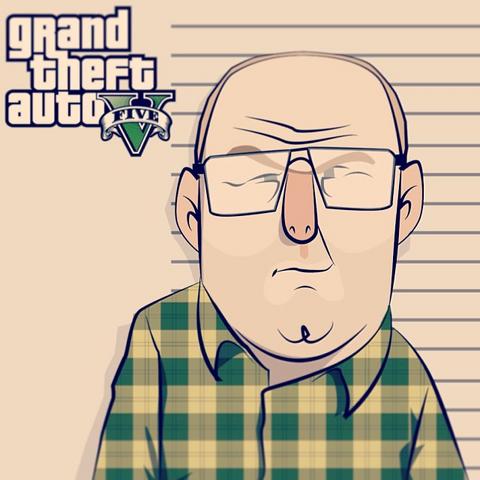 Archivo:GTA V Fan Art - Lester Crest sketch.png
