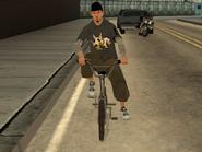 Teenager biker