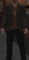 Blazer ceniza camisa seda GTA IV