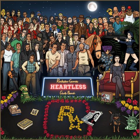 Archivo:GTA V Fan Art - Rockstar Games All Stars.png
