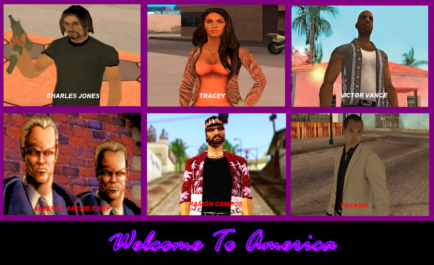 GTA - WELCOME TO AMERICA - POSTER