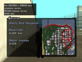 Mapa del recorrido de Whirly Bird Waypoint