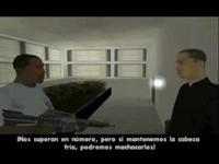 CJ hablando triada
