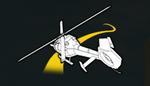 Carrera con helicoptero