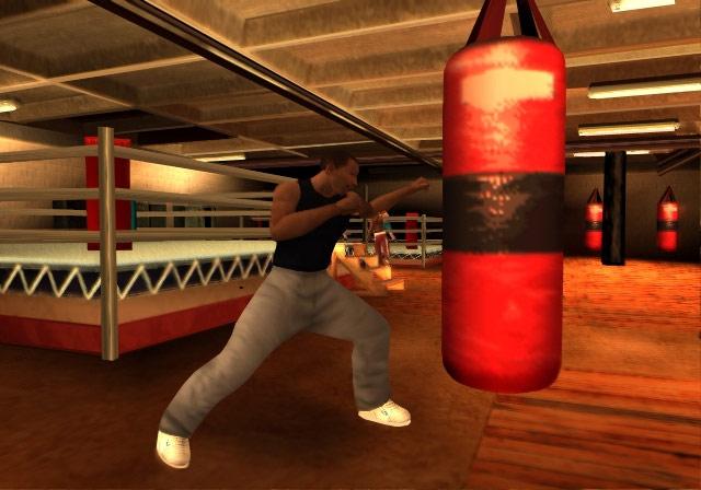 Archivo:Carl Johnson usando un saco de boxeo.jpg