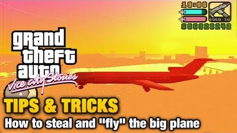 "GTA Vice City Stories - Tips & Tricks - How to steal and ""fly"" the big plane"
