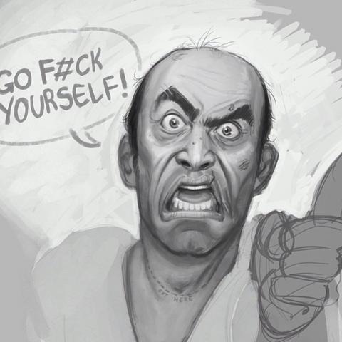 Archivo:Grand Theft Auto V Fan Art - Go Fuck yourself!.png