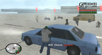 Carl disparando contra los secuestradores