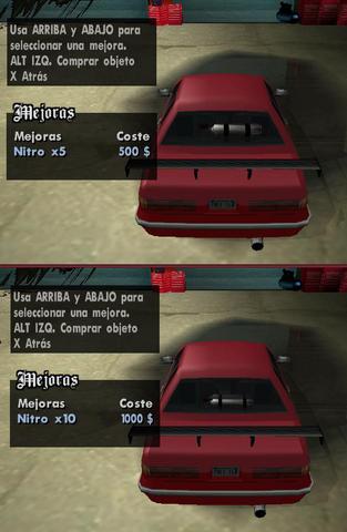 Archivo:GTA SA Manana nitro 5 y 10 en la ventana.png