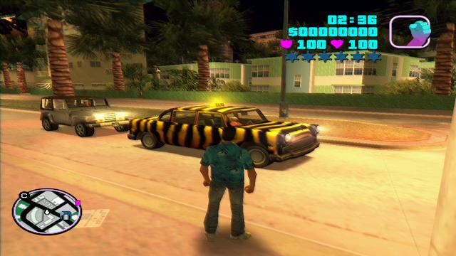 Archivo:GTA Vice City Beta Taxi Zebra.png