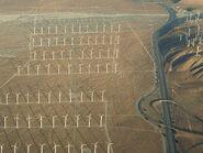Vista aerea de San georgino pass wind farm