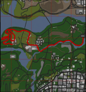 GTA SA Badlands B Mapa