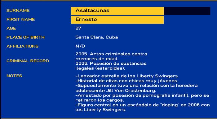 Ernesto asaltacunas LCPD
