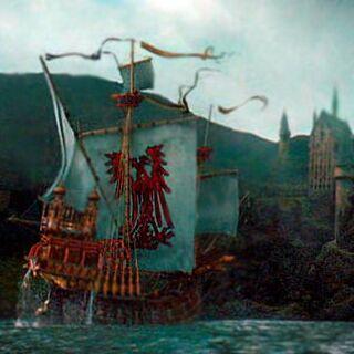 El barco en el que llega Durmstrang