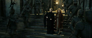 Minerva and Molly Battle of Hogwart
