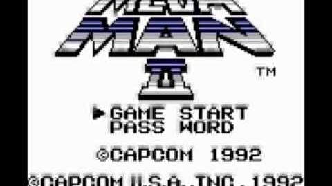 Gameboy Mega Man 2 Title Screen