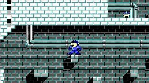 Mega Man 3 PC DOS Stage 4 - Blade Man