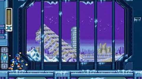 Mega Man X3 - Blizzard Buffalo Stage Frozen City