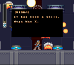 Primer diálogo de Sigma en Mega Man X2.