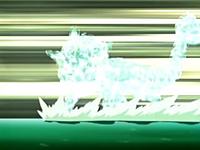 EP429 Vaporeon evaporándose en el agua