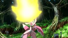 EP978 Lurantis usando cuchilla solar