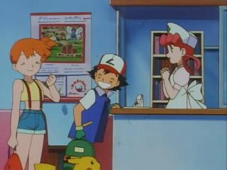 EP036 Ash, Misty, Joy y Pikachu Cartel.png