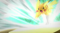 EP665 Pikachu usando ataque rápido