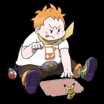 """Ilustración de Chris en <a href=""""/wiki/Pok%C3%A9mon_Sol_y_Pok%C3%A9mon_Luna"""" title=""""Pokémon Sol y Pokémon Luna"""">Pokémon Sol y Pokémon Luna</a>"""
