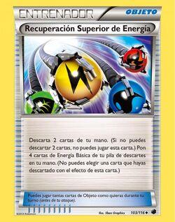 Carta Recuperación Superior de Energía