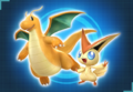 Ayudantes Dragonite y Victini Pokkén Tournament.png