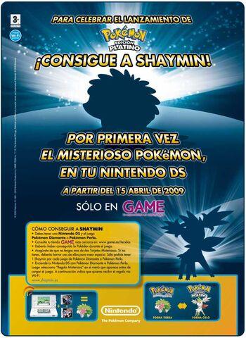 Archivo:Anuncio evento Shaymin tiendas GAME 2009.jpg