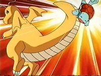 EP114 Dragonite usando portazo