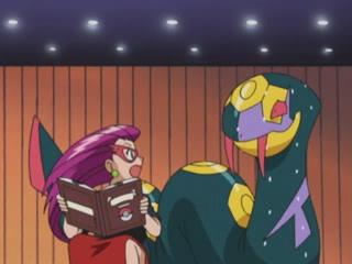 Archivo:EP289 Jessie y Seviper en el concurso pokémon.jpg