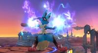 Mega-Lucario en SSB4 Wii U
