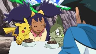 Archivo:EP671 Axew y Pikachu comiendo.jpg