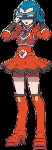 Ilustración de Melia en Pokémon X y Pokémon Y