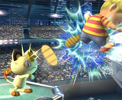 Archivo:Meowth atacando SSBB.jpg