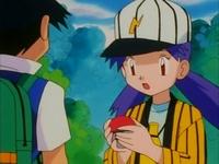 Archivo:EP163 Ash regalandole a Casey el Beedrill.png