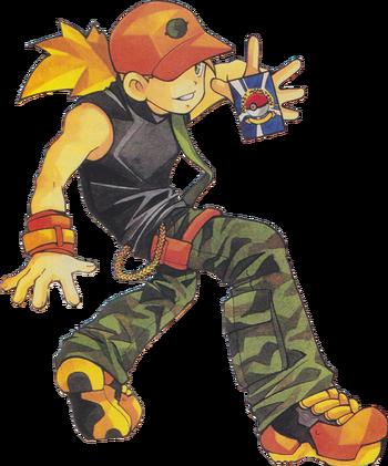 "Sergio en <a href=""/wiki/Pok%C3%A9mon_Trading_Card_Game_(videojuego)"" title=""Pokémon Trading Card Game (videojuego)"">Pokémon Trading Card Game</a>"