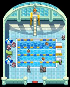 Interior del Gimnasio de Ciudad Celeste en los videojuegos