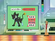 EP532 LPO - El profesor Oak mostrando a Luxray en la pantalla
