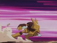 EP173 Alakazam usando golpe cabeza