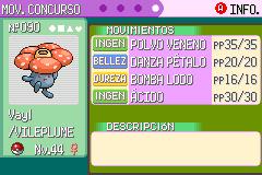 Pantalla Mov Concurso Pokémon Esmeralda