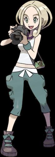 <i>Ilustración de Violeta en Pokémon X y Pokémon Y</i>