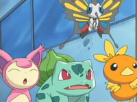 Archivo:EP353 Skitty, Beautifly, Bulbasaur y Torchic.png