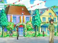 Pueblo Aromaflor en el anime
