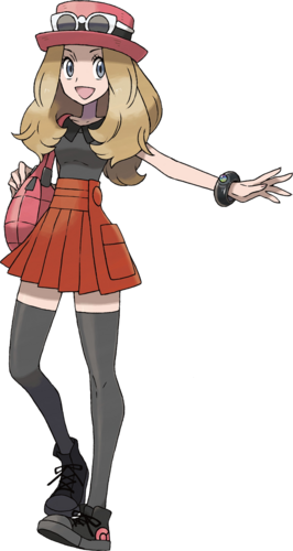 """Serena en <a href=""""/wiki/Pok%C3%A9mon_X_y_Pok%C3%A9mon_Y"""" title=""""Pokémon X y Pokémon Y"""">Pokémon X y Pokémon Y</a>"""