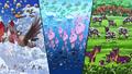 P14 Versión Negra Pokémon en el agua, tierra, y cielo.png