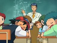 EP557 Ash y Angie dormidos en clase