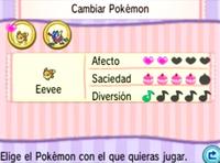 Características del Pokémon en el Poké Recreo XY